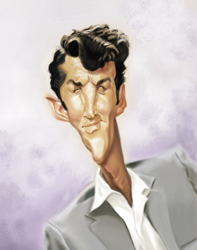 Cartoon: Dean Martin (medium) by doodleart tagged dean,martin