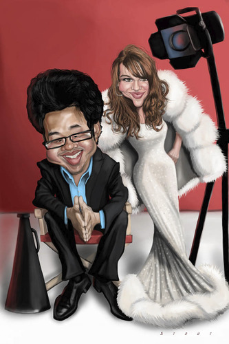 Cartoon: Kay and Kevin (medium) by doodleart tagged kay,kevin,celebrity,fame