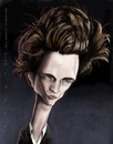 Cartoon: Robert Pattinson (small) by doodleart tagged twilight,actor,celebrity,caricature