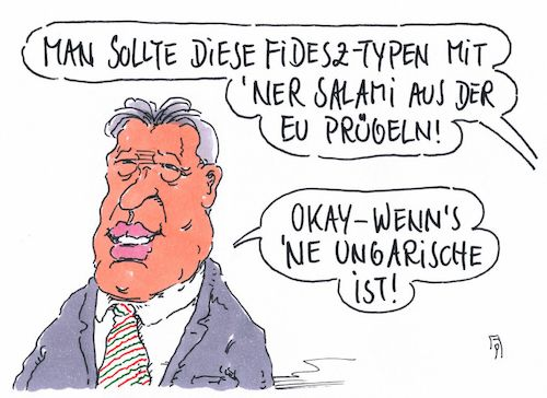 Cartoon: fidesz-typen (medium) by Andreas Prüstel tagged eu,europa,parlament,evp,fraktion,fidesz,orban,ungarn,ausschluss,cartoon,karikatur,andreas,pruestel,eu,europa,parlament,evp,fraktion,fidesz,orban,ungarn,ausschluss,cartoon,karikatur,andreas,pruestel