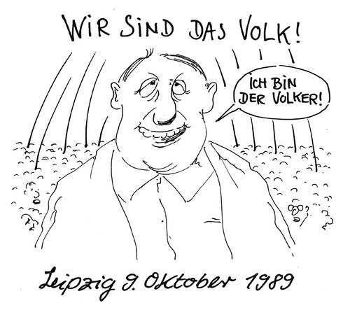 Cartoon: friedlicher revolutionär (medium) by Andreas Prüstel tagged friedliche,1989,ddr,leipzig,revolution,volker,volk,umsturz,cartoon,karikatur,andreas,pruestel,leipzig,ddr,1989,friedliche,revolution,volker,volk,umsturz,cartoon,karikatur,andreas,pruestel