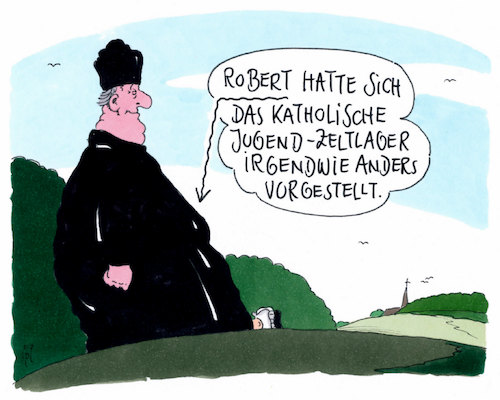 Cartoon: jugendzeltlager (medium) by Andreas Prüstel tagged katholische,kirche,missbrauchsgipfel,vatikan,papst,kindesmissbrauch,jugendzeltlager,cartoon,karikatur,andreas,pruestel,katholische,kirche,missbrauchsgipfel,vatikan,papst,kindesmissbrauch,jugendzeltlager,cartoon,karikatur,andreas,pruestel