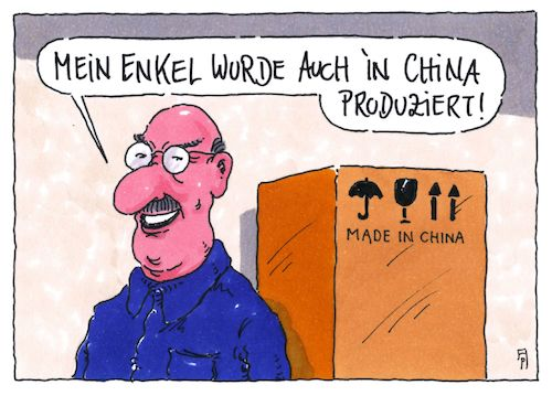 Cartoon: made in china (medium) by Andreas Prüstel tagged china,exportnation,wirtschaft,enkel,cartoon,karikatur,andreas,pruestel,china,exportnation,wirtschaft,enkel,cartoon,karikatur,andreas,pruestel