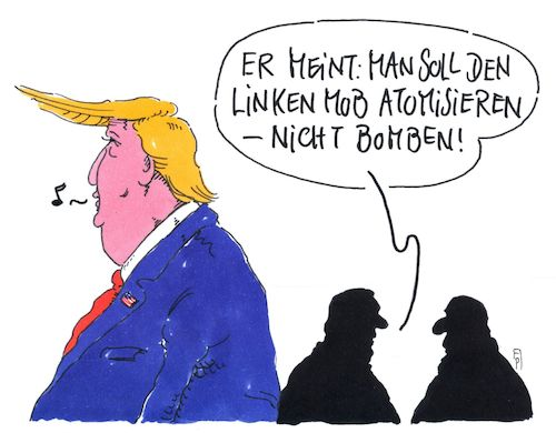 Cartoon: nicht bomben (medium) by Andreas Prüstel tagged usa,bombenfunde,rohrbomben,demokraten,medien,linker,mob,trumpkritiker,trumb,cartoon,karikatur,andreas,pruestel,usa,bombenfunde,rohrbomben,demokraten,medien,linker,mob,trumpkritiker,trumb,cartoon,karikatur,andreas,pruestel