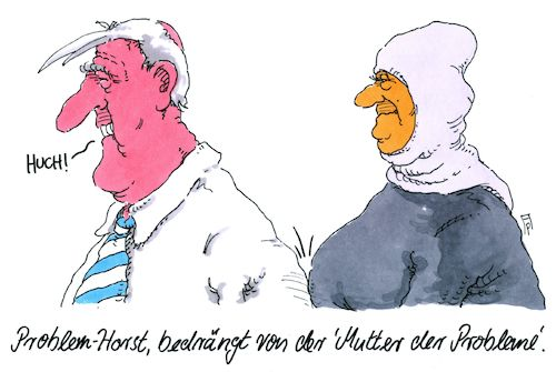 Cartoon: problematisch (medium) by Andreas Prüstel tagged innenminister,seehofer,aussage,migration,muslime,muslima,merkel,cartoon,karikatur,andreas,pruestel,innenminister,seehofer,aussage,migration,muslime,muslima,merkel,cartoon,karikatur,andreas,pruestel