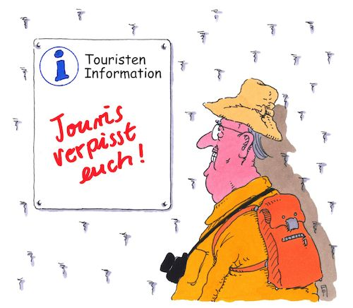 Cartoon: touristen-information (medium) by Andreas Prüstel tagged tourismus,touristeninformation,einheimische,cartoon,karikatur,andreas,pruestel,tourismus,touristeninformation,einheimische,cartoon,karikatur,andreas,pruestel