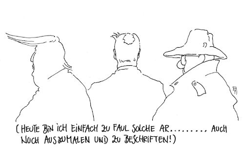Cartoon: zu faul (medium) by Andreas Prüstel tagged trump,seehofer,verfassungsschutz,nsu,zeichner,karikaturist,überdruß,faulheit,cartoon,karikatur,andreas,pruestel,trump,seehofer,verfassungsschutz,nsu,zeichner,karikaturist,überdruß,faulheit,cartoon,karikatur,andreas,pruestel