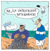 Cartoon: am strand (small) by Andreas Prüstel tagged fischer,fischernetz,internet,netzwerke