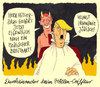 Cartoon: modisch (small) by Andreas Prüstel tagged hölle,trump,bannon,breitbart,usa,hitler,coiffeur,cartoon,karikatur,andreas,pruestel