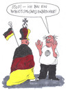 Cartoon: patriotismus (small) by Andreas Prüstel tagged fußballweltmeisterschaft,brasilien,deutschland,patriotismus,nationalismus,fans,fahnen,fanutensilien,wellenbrecher,cartoon,karikatur,andreas,pruestel