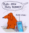Cartoon: pluto (small) by Andreas Prüstel tagged hund,pluto,lissy,kommunikation,handy,pfoty,cartoon,karikatur,andreas,pruestel