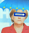 Cartoon: solo für angie (small) by Andreas Prüstel tagged merkel,angie,eurokrise,isolation,deutschland