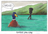 Cartoon: watergoogle (small) by Andreas Prüstel tagged schottland,googlekameras,lochness,nessie,ente