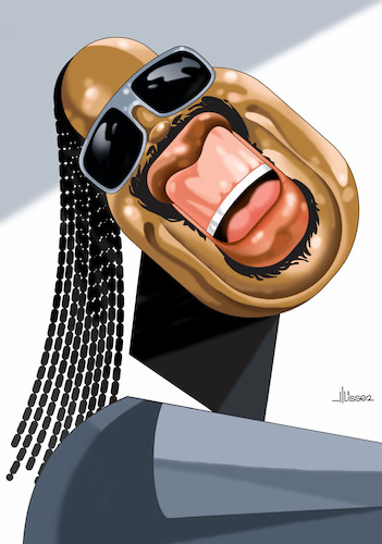 Cartoon: Stevie Wonder (medium) by Ulisses-araujo tagged stevie,wonder