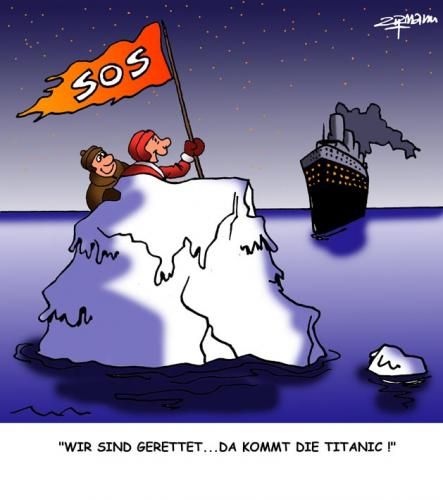 Cartoon: Titanic (medium) by Georg Zitzmann tagged titanic,schiff,boot,eisberge,kreuzfahrten