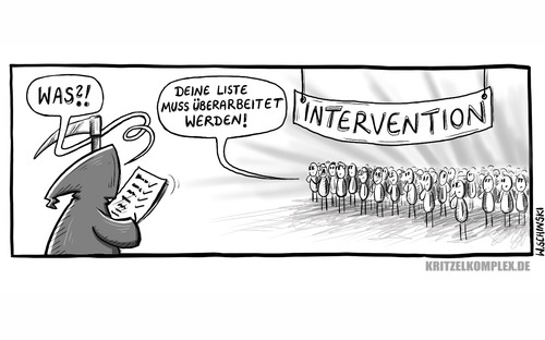 Cartoon: Intervention (medium) by kplx tagged david,bowie,lemmy,kilmister,tod