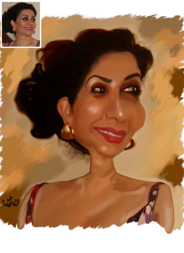 Cartoon: Hind Kamil (medium) by handren khoshnaw tagged handren,khoshnaw,hind,kamil,iraq,actress,caricature
