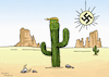 Cartoon: Donald Trump a cactus plant (small) by handren khoshnaw tagged donald,trump,cartoon,cactus,desert,racist,handren,khoshnaw