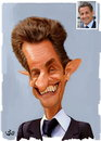Cartoon: Nicolas Sarkozy (small) by handren khoshnaw tagged handren,khoshnaw