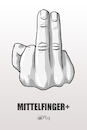 Cartoon: Mittelfinger plus (small) by INovumI tagged mittelfinger,stinkefinger,novum