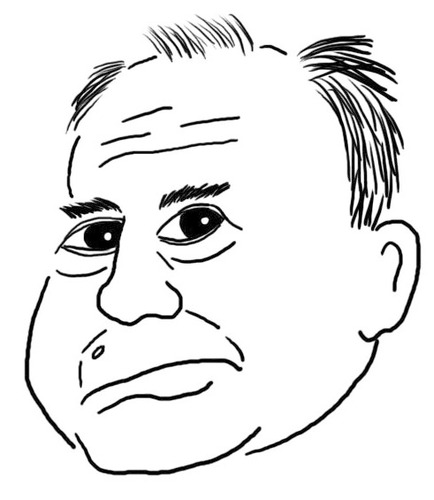 Cartoon: Uli Hoeneß Karikatur (medium) by noseart tagged uli,hoeneß,bayern,präsident