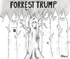 Cartoon: Forrest Trump (small) by Boon tagged political,trump,elections,usa,cartoon,tree,forrest,racism,republican