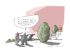 Cartoon: Morgenrot (small) by Mattiello tagged morgenrot,tageslauf