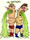 Cartoon: The Vomiteers (small) by D-kay tagged wrestler,tag,team,puke