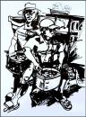 Cartoon: vietnamise fisherman (small) by yalisanda tagged fisherman asia vietnam work loading black white drawing body