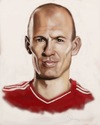 Cartoon: Arjen Robben (small) by Danny Kohn tagged bayern münchen