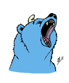 Cartoon: Bearsmurf (small) by vanolmen tagged smurf,bear,cry,blue