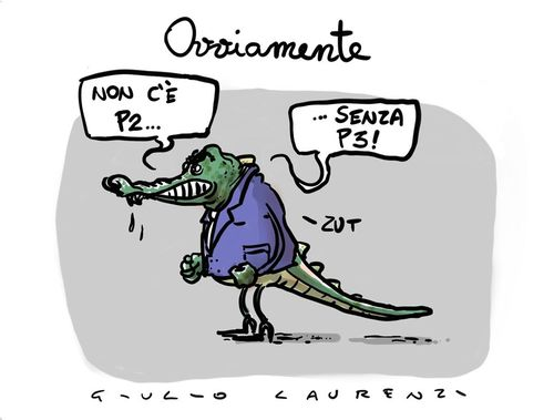 Cartoon: Il Cainano (medium) by Giulio Laurenzi tagged cainano