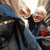 Cartoon: Avant la lettre (small) by Bart van Leeuwen tagged boris,burka,letterbox,islam,uk
