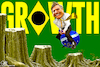 Cartoon: Growth - Bolsonaro (small) by Bart van Leeuwen tagged bolsonaro,amazone,economic,growth,brazil,deforestation