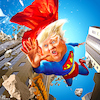 Cartoon: Tariff Man (small) by Bart van Leeuwen tagged tariff,man,superman,trade,war,china,trump
