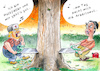 Cartoon: Lumberjacks (small) by Paolo Calleri tagged usa,alaska,regenwaelder,wald,natur,abholzung,wirtschaft,amazonas,suedamerika,nordamerika,brasilien,umwelt,klima,klimakrise,gruene,lunge,praesident,donad,trump,jair,bolsonaro,protest,landwirtschaft,zukunft,generationen,monty,python,lumberjack,song,holzfaeller,lied,karikatur,cartoon,paolo,calleri