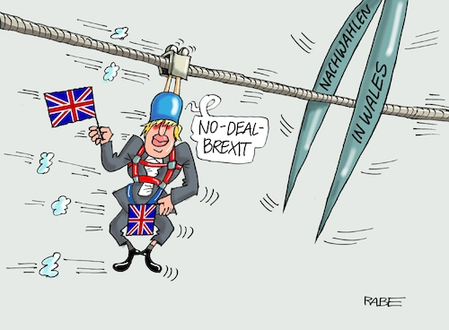 Cartoon: Boris Seiltrick (medium) by RABE tagged brexit,eu,insel,may,britten,austritt,rabe,ralf,böhme,cartoon,karikatur,pressezeichnung,farbcartoon,tagescartoon,bauhaus,baukasten,bauklötzer,plan,referendum,februar,irre,irrsinn,boris,johnson,wales,nachwalen,schottland,no,deal,seil,bürgermeister,schere,seilfahrt,brexit,eu,insel,may,britten,austritt,rabe,ralf,böhme,cartoon,karikatur,pressezeichnung,farbcartoon,tagescartoon,bauhaus,baukasten,bauklötzer,plan,referendum,februar,irre,irrsinn,boris,johnson,wales,nachwalen,schottland,no,deal,seil,bürgermeister,schere,seilfahrt
