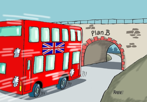 Cartoon: Brexit Szenario II (medium) by RABE tagged brexit,eu,insel,may,britten,austritt,rabe,ralf,böhme,cartoon,karikatur,pressezeichnung,farbcartoon,tagescartoon,bauhaus,baukasten,bauklötzer,plan,referendum,februar,bus,doppeldecker,brücke,crash,brexit,eu,insel,may,britten,austritt,rabe,ralf,böhme,cartoon,karikatur,pressezeichnung,farbcartoon,tagescartoon,bauhaus,baukasten,bauklötzer,plan,referendum,februar,bus,doppeldecker,brücke,crash