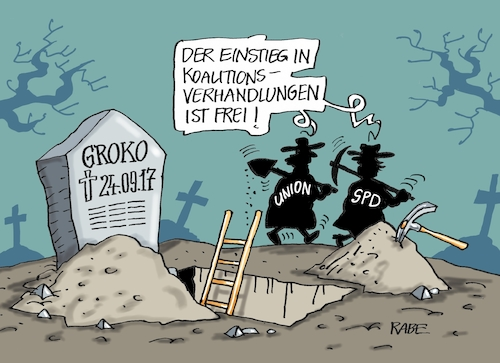 Cartoon: Grabräuber (medium) by RABE tagged groko,sondierung,koalitionsverhandlungen,csu,cdu,union,merkel,seehofer,spd,schulz,rabe,ralf,böhme,cartoon,karikatur,pressezeichnung,farbcartoon,tagescartoon,friedhof,gottesacker,grab,grabräuber,einstieg,groko,sondierung,koalitionsverhandlungen,csu,cdu,union,merkel,seehofer,spd,schulz,rabe,ralf,böhme,cartoon,karikatur,pressezeichnung,farbcartoon,tagescartoon,friedhof,gottesacker,grab,grabräuber,einstieg