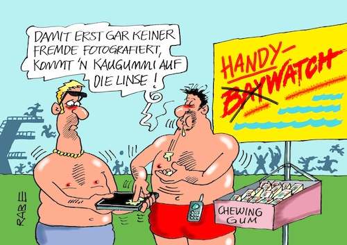 Cartoon: Handyverbot im Freibad (medium) by RABE tagged handy,smartphone,fotos,linse,spanner,freibad,schwimmbad,sexisten,rabe,ralf,böhme,cartoon,karikatur,pressezeichnung,farbcartoon,tagescartoon,baywatch,kaugummi,bademeister,überwachung,pornos,kleinkinder,nackedeis,handy,smartphone,fotos,linse,spanner,freibad,schwimmbad,sexisten,rabe,ralf,böhme,cartoon,karikatur,pressezeichnung,farbcartoon,tagescartoon,baywatch,kaugummi,bademeister,überwachung,pornos,kleinkinder,nackedeis