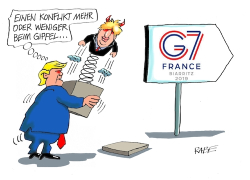 Cartoon: Trump und Johnson (medium) by RABE tagged trump,usa,sieben,frankreich,boris,johnson,brexit,macron,merkel,japan,rabe,ralf,böhme,cartoon,karikatur,pressezeichnung,farbcartoon,tagescartoon,austritt,eu,premier,präsident,gipfel,gipfeltreffen,staatspräsidenten,kanada,deutschland,trump,usa,sieben,frankreich,boris,johnson,brexit,macron,merkel,japan,rabe,ralf,böhme,cartoon,karikatur,pressezeichnung,farbcartoon,tagescartoon,austritt,eu,premier,präsident,gipfel,gipfeltreffen,staatspräsidenten,kanada,deutschland