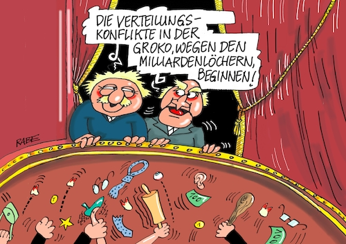 Cartoon: Verteilungskämpfe (medium) by RABE tagged rente,rentenerhöhung,rentenniveau,rentenanpassung,ost,west,rentner,nahles,spd,rabe,ralf,böhme,cartoon,karikatur,pressezeichnung,farbcartoon,tagescartoon,verteilung,groko,verteilungskonflikte,verteilungskämpfe,cdu,staatshilfen,milliardenlöcher,milliardenlücken,finanzminister,scholz,olaf,rente,rentenerhöhung,rentenniveau,rentenanpassung,ost,west,rentner,nahles,spd,rabe,ralf,böhme,cartoon,karikatur,pressezeichnung,farbcartoon,tagescartoon,verteilung,groko,verteilungskonflikte,verteilungskämpfe,cdu,staatshilfen,milliardenlöcher,milliardenlücken,finanzminister,scholz,olaf