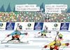 Cartoon: Biathlon WM II (small) by RABE tagged biathlon,wm,wintersport,oberhof,thüringen,winter,eis,schnee,lawine,rabe,ralf,böhme,cartoon,karikatur,pressezeichnung,farbcartoon,tagescartoon,ski,arena,gewehr,sicherheit,läufer,sportler