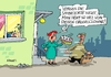 Cartoon: Gruselclown nochmal (small) by RABE tagged clown,gruselclown,horrorclown,rabe,ralf,böhme,cartoon,karikatur,pressezeichnung,farbcartoon,tagescartoon,torte,sahnetorte
