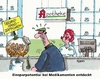 Cartoon: Kosteneinsparung (small) by RABE tagged medikamente,apotheke,arzt,patient,krankenkassen,rezept,pillen,salben,zäpfchen,einsparungen,einsparpotential,rabe,ralf,böhme,cartoon,karikatur,pressezeichnung,farbcartoon,tagescartoon,apothekerin,kunde,barmer,aok,privatversicherte,kosteneinsparung,secondha