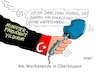 Cartoon: Oberhausenrede (small) by RABE tagged türkei,ministerpräsident,yildirim,erdogan,hassrede,einführung,präsidialsystem,türken,deutschland,rabe,ralf,böhme,cartoon,karikatur,pressezeichnung,farbcartoon,tagescartoon,merkel,kanzlerin,union,mikrofon,tribüne,rede