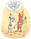 Cartoon: Dänen lügen nicht ... (small) by mele tagged winnetou,dänen,wurst,weisswurst,pölser