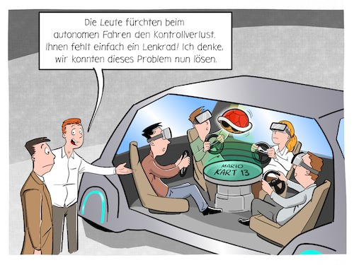 Cartoon: Kontrollverlust (medium) by CloudScience tagged autonomes,fahren,selbstfahrendes,auto,digitalisierung,digital,mario,kart,kontrollverlust,angst,technik,technologie,tech,zukunft,innovation,mobilität,mobility,selfdriving,car,connected,vr,ar,entertainement,unterhaltung,innenraum,autonomes,fahren,selbstfahrendes,auto,digitalisierung,digital,mario,kart,kontrollverlust,angst,technik,technologie,tech,zukunft,innovation,mobilität,mobility,selfdriving,car,connected,vr,ar,entertainement,unterhaltung,innenraum