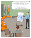 Cartoon: Die vernetzte Fabrik (small) by CloudScience tagged industrie,40,iot,internet,der,dinge,vernetzung,kommunikation,smart,roboter,robotik,innovation,disruption,zukunft,trend,industrieroboter,workshop,kommunikationsworkshop,produktion,intelligenz,ki,ai,m2m,mensch,maschine,technologie,automatisierung,automatisch,tech,technik,digitalisierung,digital,management,business,fabrik,factory,sensoren,vernetzt,rfid,daten,network,it,newwork