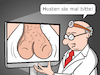 Cartoon: Telemedizin (small) by CloudScience tagged telemedizin,behandlung,arztbesuch,onlinebehandlung,diagnose,hoden,versaut,arzt,doktor,urologe,skype,kommunikation,telekommunikation,cartoon,moeller,humor,satire,visite,untersuchung,arbeitswelt,technologie,digitalisierung,zukunft,erstdiagnose,husten,eier,genitalien,bildschirm,screen,patient,callcenter,befund,anamnese,hausarzt,medizin